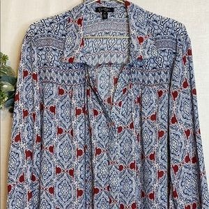 Jessica Simpson Long Sleeve Button Down Top 2X